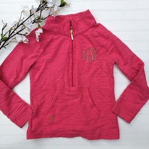 Lilly Pulitzer Pink Terry Half Zip Pullover